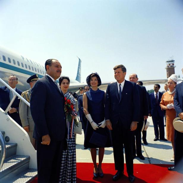 JFK Recieving Ayub Khan