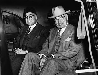 Mr Liaquat Ali Khan with US President Mr Harry Truman in USA